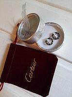 Сережки Cartier (Картье) позолота, гвоздики