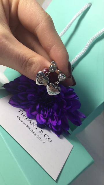 Сережки сердечки тиффани, позолота