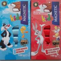 Шоколад молочный Magnetic Kids (8 батончиков) Польша 100г