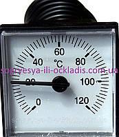 Термометр воды 0-120 град,капил.1000 мм, 47*47мм котлов газовых, твердотопливных, электрических, к.с.5004, фото 1
