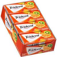 Trident tropical twist 14 пачек жевательная резинка фруктовая
