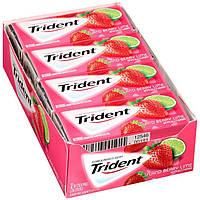 Trident Island Berry lime 14 пачек жевательная резинка клубника+лайм