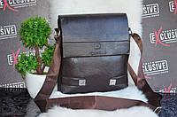 Стильная коричневая сумка для мужчин.