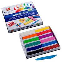 Пластилин MODELLING CLAY, классика,набор 12 цветов