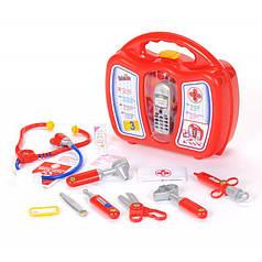 Набор врача в чемодане с аксессуарами и сотовым телефоном Klein 4350