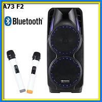 Акустика на акумуляторе с микрофонами A73 Bluetooth