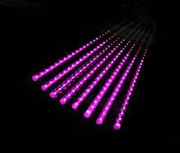 Гирлянда Метеоритный дождь «Тающие Сосульки» LED, Метеор 50 см розовая