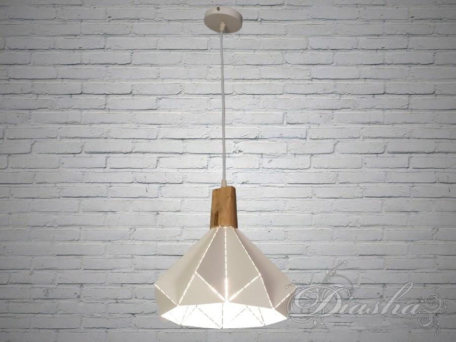 Белый подвесной лофт светильник