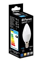 Світлодіодна лампочка E14 свічка 7W Feron LB-197 2700K