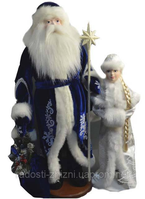 Дед Мороз и Снегурочка под елку 72-50см  , фото 1