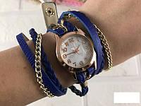 Наручные часы женские с перламутром стильные многослойный браслет