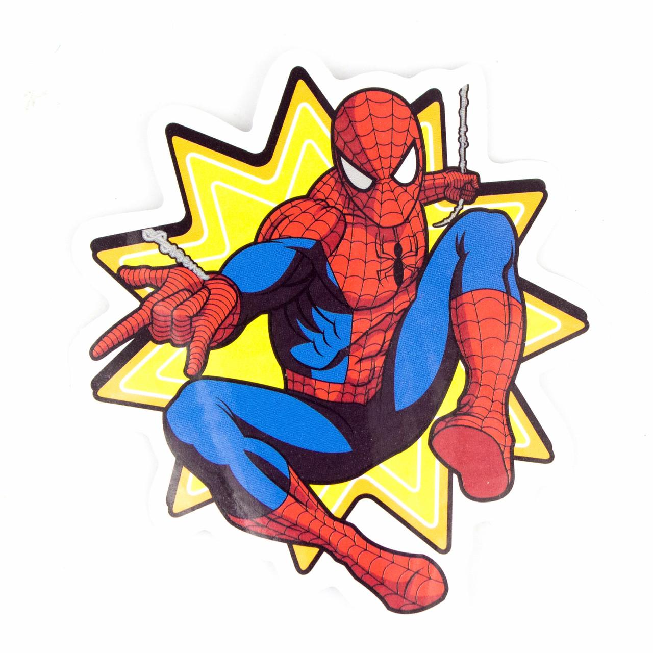 Стикер Spider Man Вперед Паутина для ноутбука, смартфона, дорожного пластикового чемодана