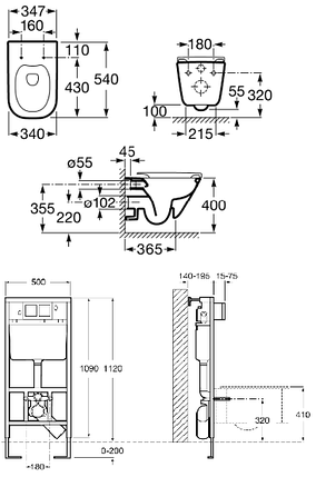 Подвесной унитаз Roca в комплекте с инсталяцией, кнопкой и сиденьем slow-closing, фото 2