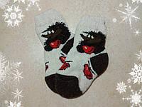Детские шерстяные носочки с ежиком 12 см, р. 21-22, теплые носки для детей