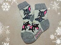 Детские теплые мультяшные носки Том и Джерри 17 см, р. 27-28, шерстяные носочки