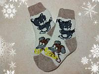 Детские теплые мультяшные носки Том и Джерри 15 см, р. 25-26 шерстяные носочки