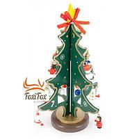Елка новогодняя сувенирная из дерева 23 см