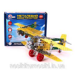 Конструктор металевий ТехноК Літак Біплан (4791) 260 деталей