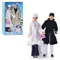 Набор кукол типа Барби DEFA Семья в зимней одежде