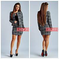 Костюм женский букле пиджак+юбка