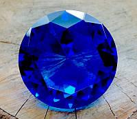 """Кристалл """"хрустальный"""" синий (8х8х4,5 см)"""