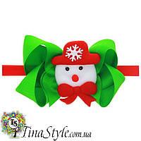 Повязка на голову Новогодняя Рождественская снеговик повязочка  для детей девочек новорожденной