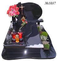 Пам'ятник одинарний з чорного граніту 1102009