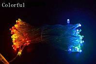Гирлянда на батарейках, новогодние украшения - разноцветная, фото 1