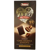 Черный шоколад с Кофе Арабикой, без сахара, Zero Torras