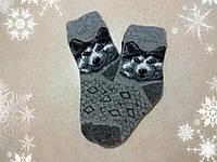 Детские новогодние носки с собакой Хаски 17 см, теплые зимние носочки