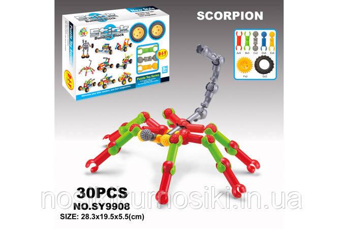 Конструктор stick building block (аналог Zoob), 30 деталей