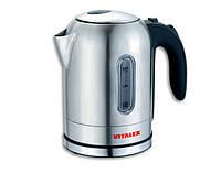 Чайник электрический Vitalex VL-2024, электрочайник 1,7 л, электрический чайник с подсветкой