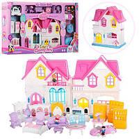 Детский игровой домик для кукол «Милый дом» (свет, звук, мебель) WD-921A-C