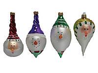 Дед Мороз+Снеговик 10 см фигурные, в ящ. мiх (стекл. игрушка)