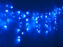 Уличная гирлянда Бахрома Синяя светодиодная 5 метров, фото 2