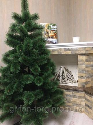 Сосна елка искусственная, пушистая 1,9 м + игрушка ручной работы в подарок, фото 2