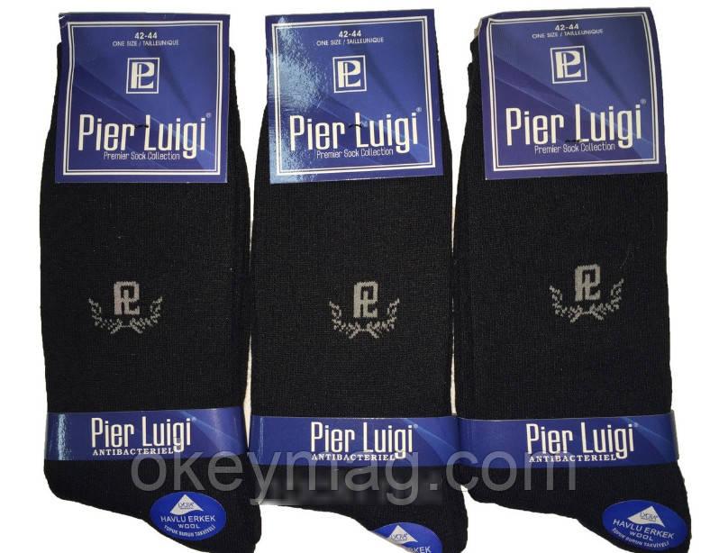 Носки тёплые махровые Pier Luigi, Турция, чёрные, размер 42-44