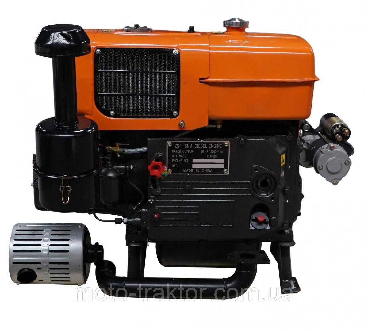 Двигатель Файтер ZS1115E 20 л.с. с электростартером