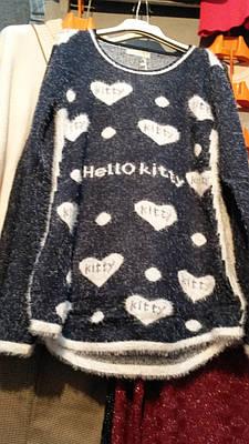 Женская кофта туника травка Hello Kitty