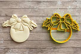 Ялинкова іграшка з бантиком - Форма для печива і пряників