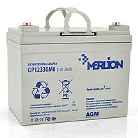 MERLION AGM GP12-33 12V 33AH - мультигелевый аккумулятор для котла
