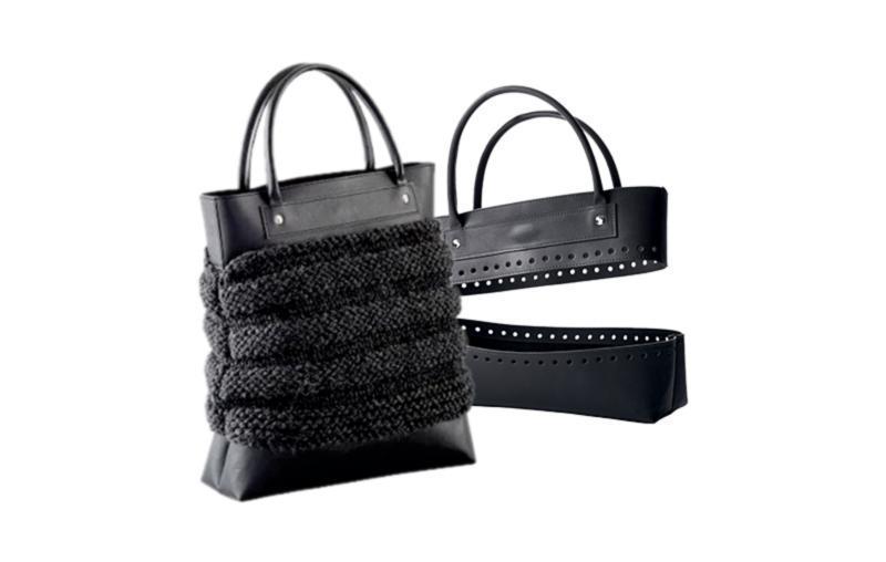 Заготовка для изготовления сумки из искусственной кожи KnitPro (черная)