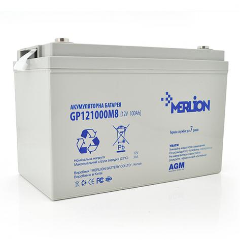 MERLION AGM GP12-100 12V 100AH - мультигелевый акумулятор для котла, фото 2