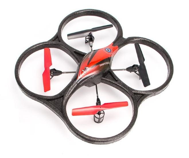 Квадрокоптер радиоуправляемый 2.4ГГц WL Toys V606 Cyclone Mini (красный)