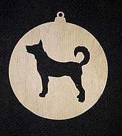 Заготовка для творчества - новогодняя подвеска из дерева, лазер, 9 см., 12/10 (цена за 1 шт. + 2 гр.)