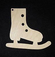 Красивая елочная игрушка под раскраску - заготовка для творчества, лазер, 8 см., 12/10 (цена за 1 шт. + 2 гр.)