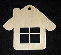 Заготовка для творчества - новогодняя подвеска из дерева, лазер, 8.5 см., 12/10 (цена за 1 шт. + 2 гр.)