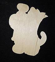 """Декоративная подвеска """"контур собачки с цифрами"""", декупаж, дерево, лазер, 8 см., 12/10 (цена за 1 шт. + 2 гр.)"""
