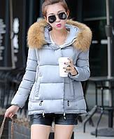 Женская куртка с меховым капюшоном зима, фото 1