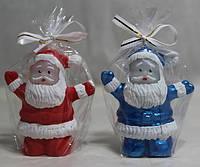 2 цвета / Свеча Дед Мороз 8x4 см